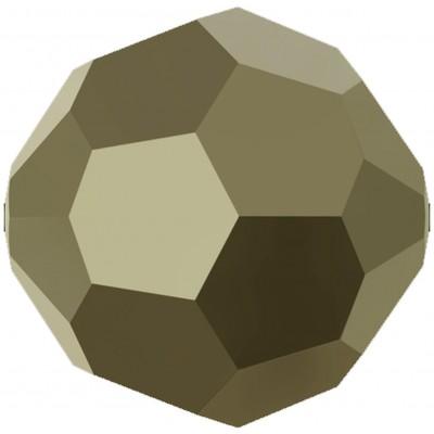 20 Swarovski Crystal Metallic Light Gold 6mm Round Beads Article 5000