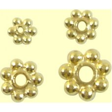 1 Vermeil 6mm Daisy Spacer Bead