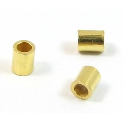 50 Vermeil 2x2mm Crimp Tubes