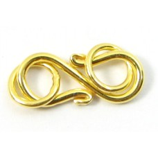 1 Vermeil Plain S Clasp with End Rings