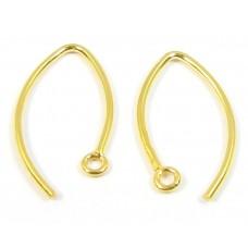 1 Pair Vermeil Curved Earwires