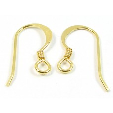 1 pair Vermeil Earwires Earring Fittings