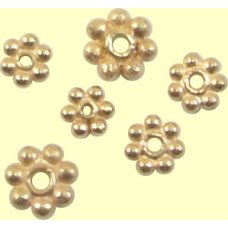 10 Rose Gold Vermeil 5mm Daisy Spacer Beads