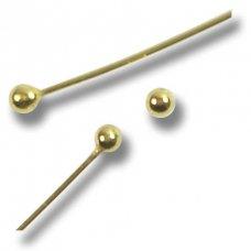 2 Vermeil Large Ball Head 70mm Headpins