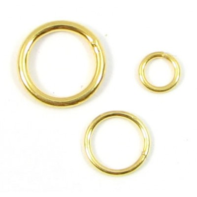 1 Vermeil 8mm Soldered Closed Ring