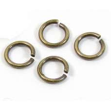 20 Antiqued Brass 4 mm Jump Rings