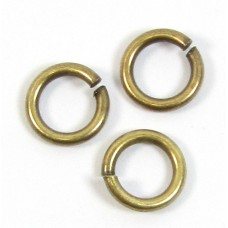 10 Antiqued Brass 6 mm Jump Rings