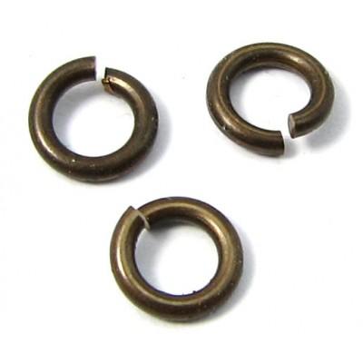 20 Vintaj Antiqued Brass 5 mm Jump Rings