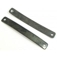 1 Vintaj Antiqued Brass Two-Hole Curved Link for Bracelet or Nameplate Stamping