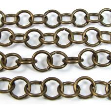 1cm Vintaj Antiqued Brass Heavy Link Chain