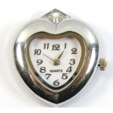 1 Silvertone Heart Pendant Watch