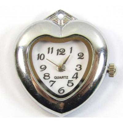 1 Silvertone Heart Pendant Watch