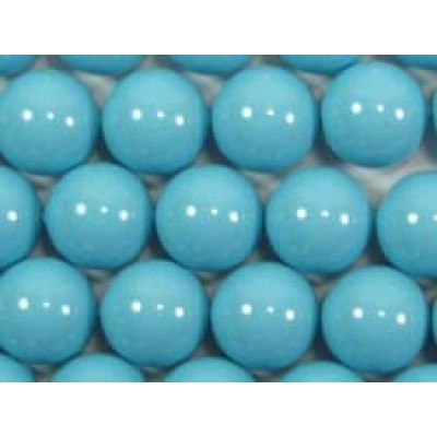 10 Swarovski Crystal Turquoise 12mm Pearls