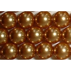 Strand 100 Swarovski Crystal Bright Gold 4mm Pearls