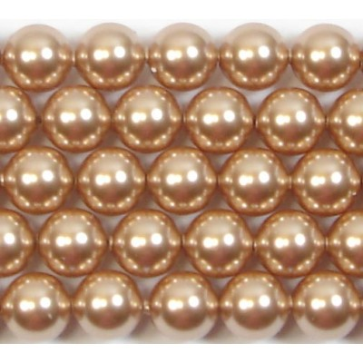 Strand Swarovski 4mm Crystal Rose Gold Pearls