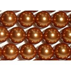 Strand 100 Swarovski Crystal Copper 6mm Pearls