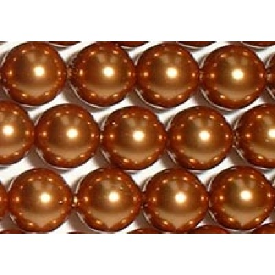 Strand 100 Swarovski Crystal Copper 6mm Pearls