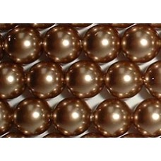 10 Swarovski Crystal Bronze 12mm Pearls