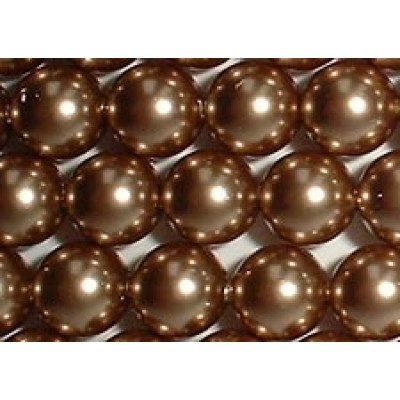 Strand 100 Swarovski Crystal Bronze 4mm Pearls