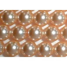 10 Swarovski Crystal Peach 12mm Pearls