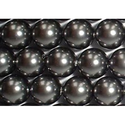 Strand 100 Swarovski Crystal Dark Grey 6mm Pearls