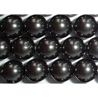 Strand 100 Swarovski Crystal Black 4mm Pearls
