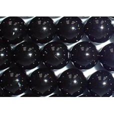 10 Swarovski Crystal Mystic Black 12mm Pearls