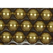 Strand 100 Swarovski Crystal Antique Brass 4mm Pearls