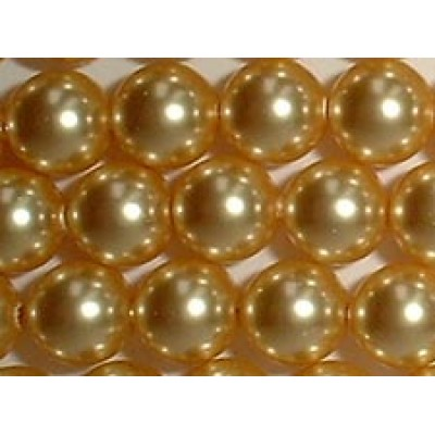 10 Swarovski Crystal Gold 12mm Pearls