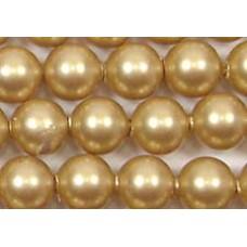 10 Swarovski Crystal Vintage Gold 12mm Pearls