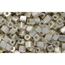 25gr Miyuki Cube Beads - Silver Dipped