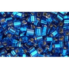25gr Miyuki Cube Beads - Silver Lined Teal Blue
