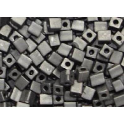 25gr Miyuki Cube Beads Matte Black Opaque