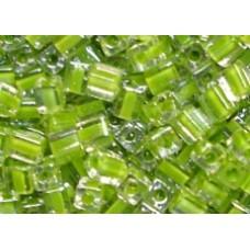 25gr Miyuki Cube Beads C/L Chartreuse Green