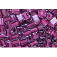 25gr Miyuki Cube Beads C/L Fuchsia Rose