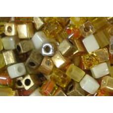 25gr Miyuki Cube Beads Butterscotch