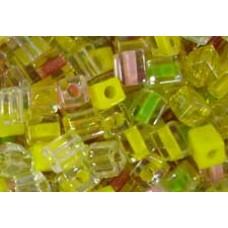 25gr Miyuki Cube Beads Lemon Fizz