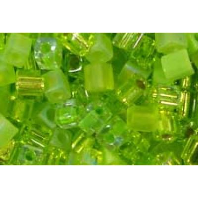 25gr Miyuki Cube Beads Green Grass