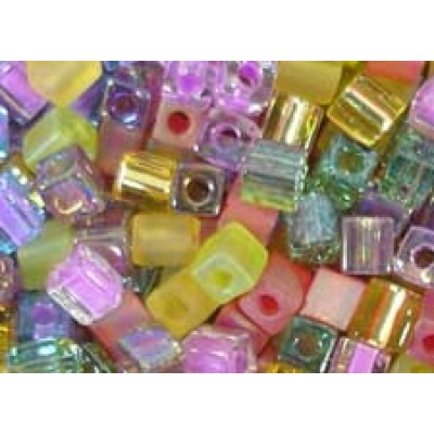 25gr Miyuki Cube Beads Citrus
