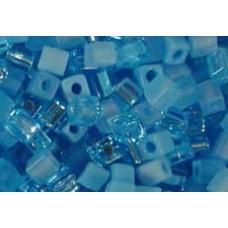 25gr Miyuki Cube Beads Turquoise Blues
