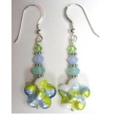 Murano Glass Flowers Earrings Choice of Three Colourways