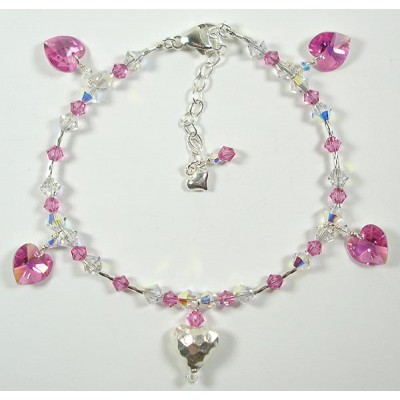Valentine Hearts Necklace or Bracelet