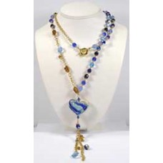 Venetian Sautoir Necklace Choice of Three Colourways
