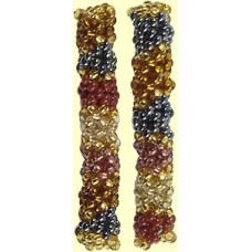 1 Fairtrade Golden Earth Beaded Tube - Band Motif