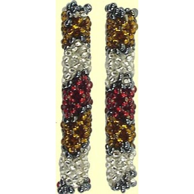 1 Fairtrade Raspberry Beaded Tube - Band Motif