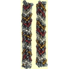 1 Fairtrade Raspberry Beaded Tube - Chevron Motif