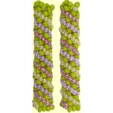 1 Fairtrade Botanical Beaded Tube - Spiral Motif