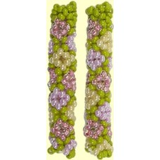 1 Fairtrade Botanical Beaded Tube - Diamond Motif