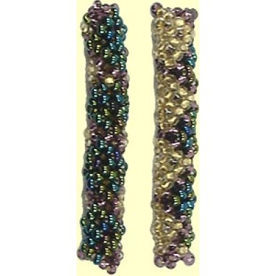 1 Fairtrade Shimmer Beaded Tube - Cross Diamond Motif