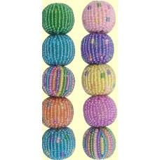 4 Fairtrade Sherbet Spots and Stripes 16mm Beaded Beads